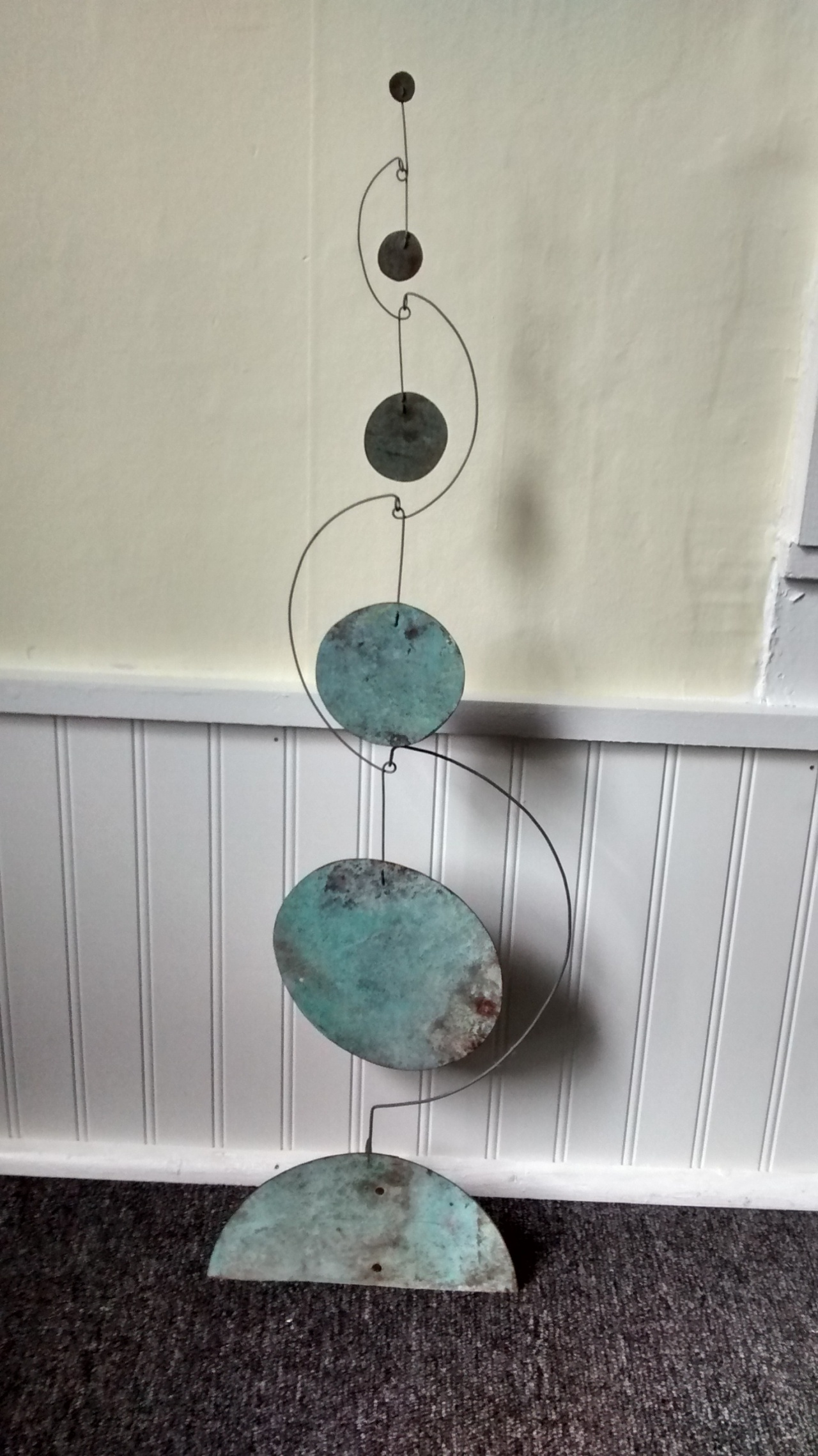Standing Wired Copper Circles