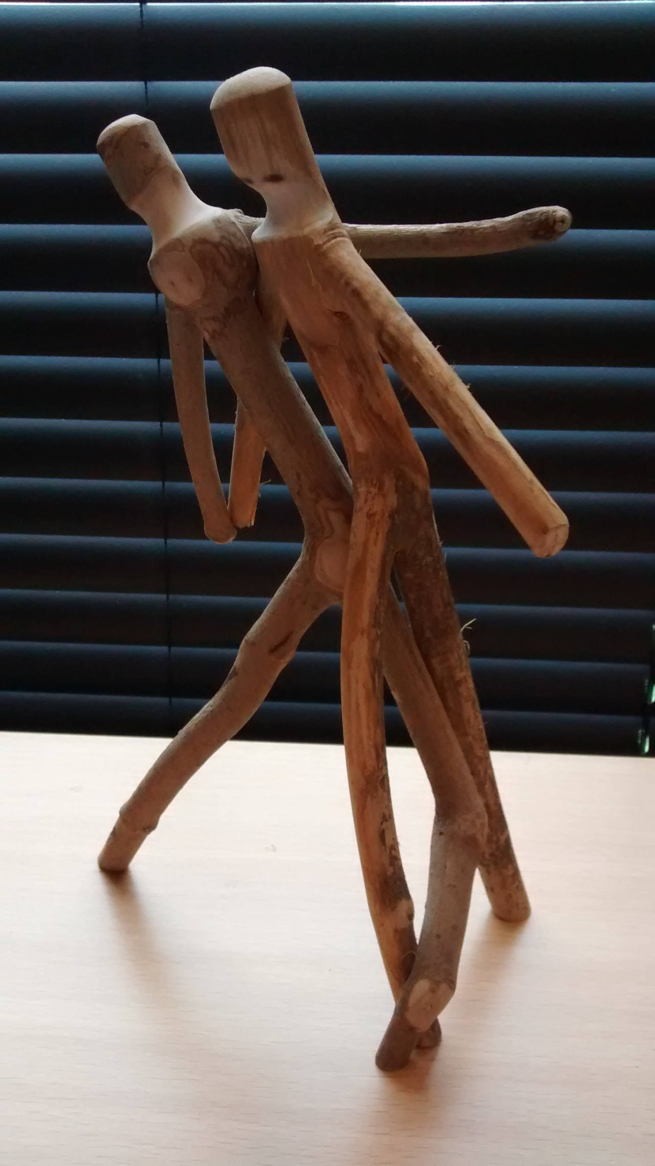 Wood You Like to Dance? Art Asked. Stick Sculpture #8915