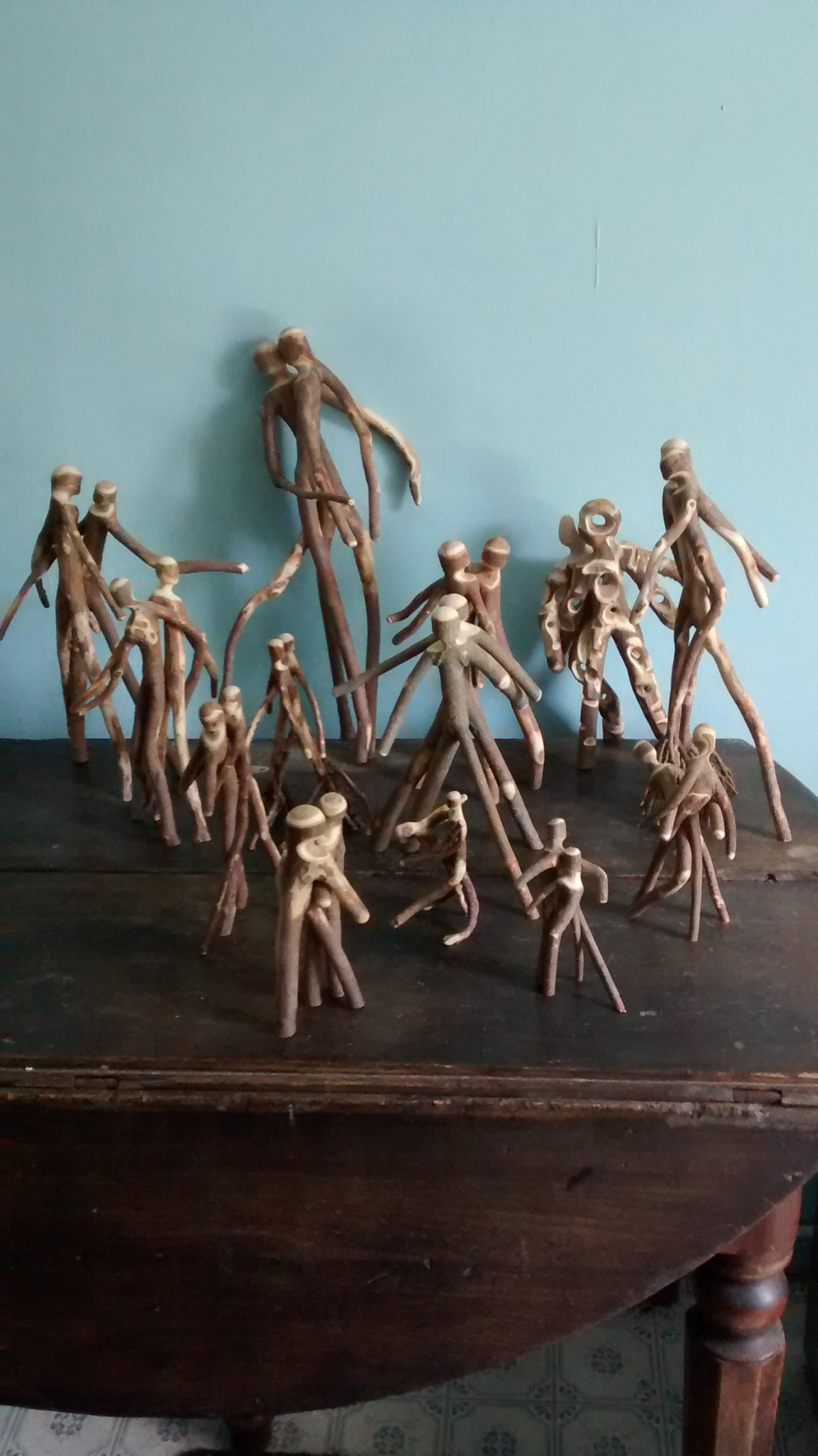 August Art will be Stick PeopleSculptures