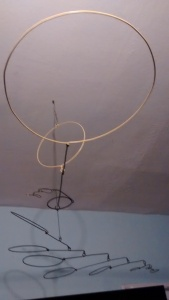 Black and Yellow Wire Circle Mobile Christopher Pollock Art