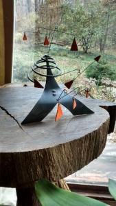 Orange Spinning Triangles Christopher Pollock Art
