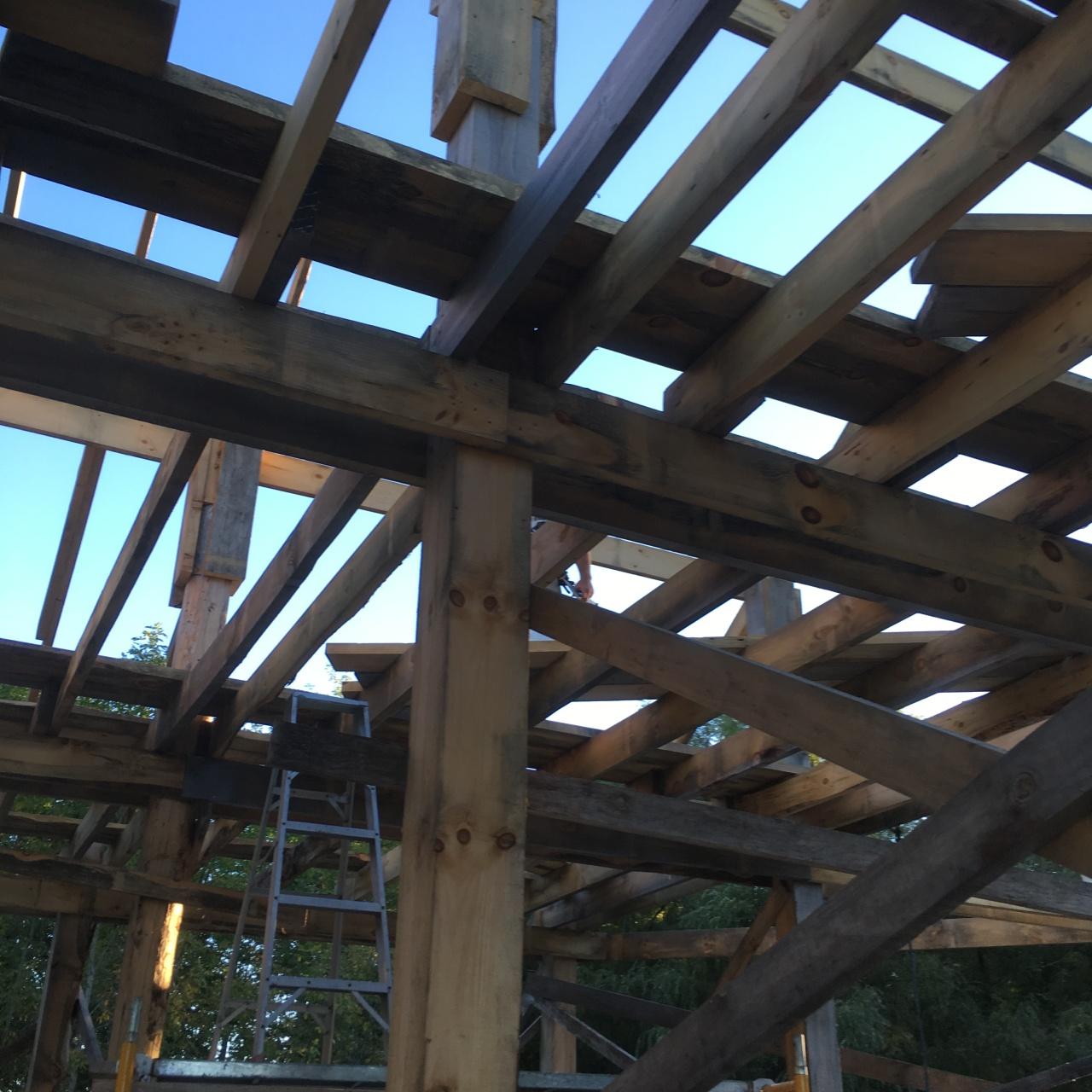 Framing Nic's Barn