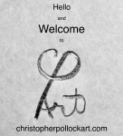 Christopher Pollock Art welcome and logo